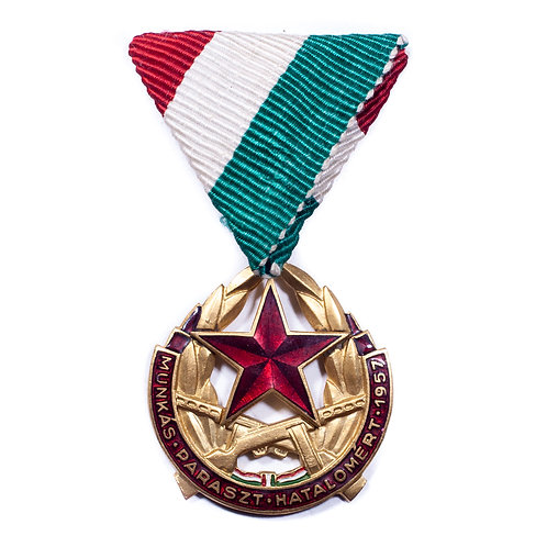 "Hungarian ""Restoration of Workers And Peasants Rule"" Medal (2)"
