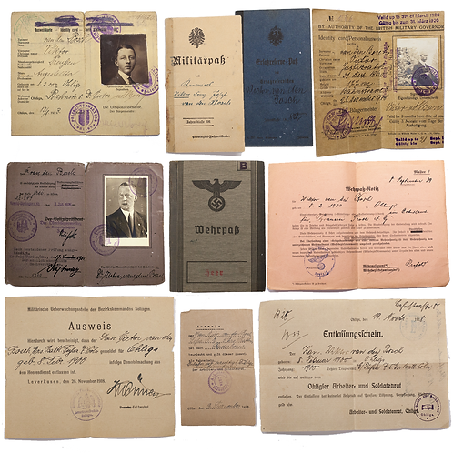 A Paperwork Grouping Belonging to Father & Son (Pre-War, WWI, WWII)