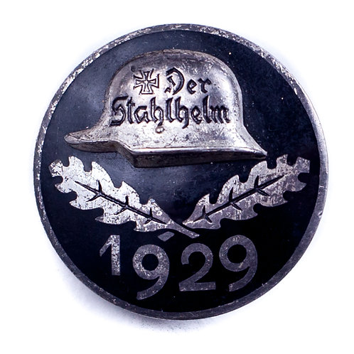 "Weimar Republic, 1929 ""Der Stahlhelm"" Badge"