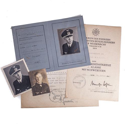 Paperwork Grouping to a Kriegsmarine Kapitänleutnant