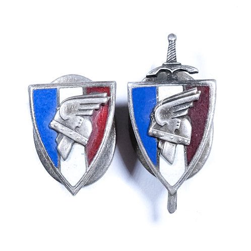 """WWII Vichy French """"Legion Francaise des Combattants"""" Badges"""