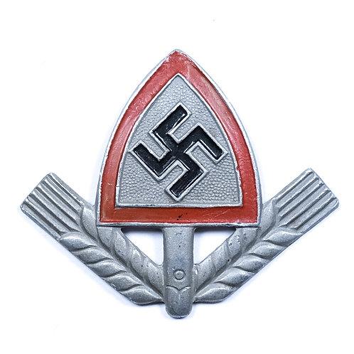WWII German RAD Cap Badge (Painted)