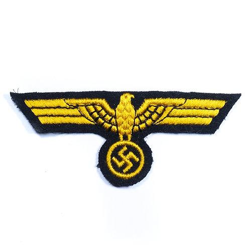 WWII German Kreigsmarine EM/NCO Breast Eagle (Machine Embroidered)
