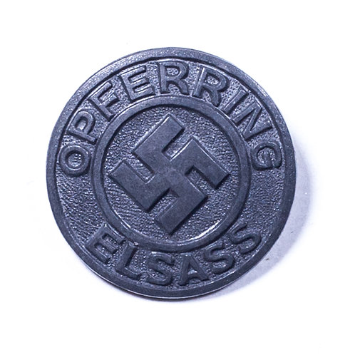 "WWII German ""Opferring Elsass"" Badge"