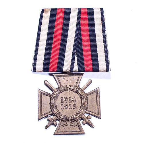 The Honour Cross of the World War 1914/1918 (Mounted)