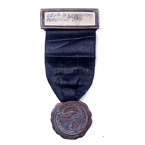 WWI Veteran's Medal, Fitchburg MA (US 104th Infantry)