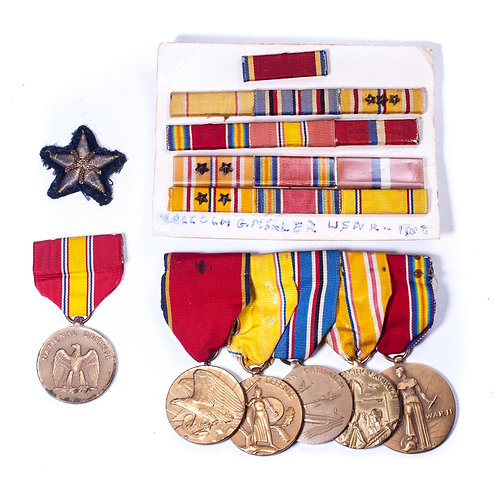 WWII US Medal Grouping of Malcolm G. Miller, USNR