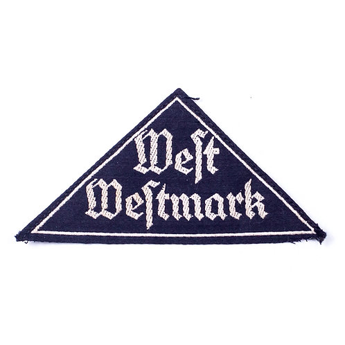 WWII German BDM District Sleeve Triangle (West Westmark)