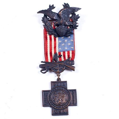 US Spanish American War Medal (Serial No. 21,027)