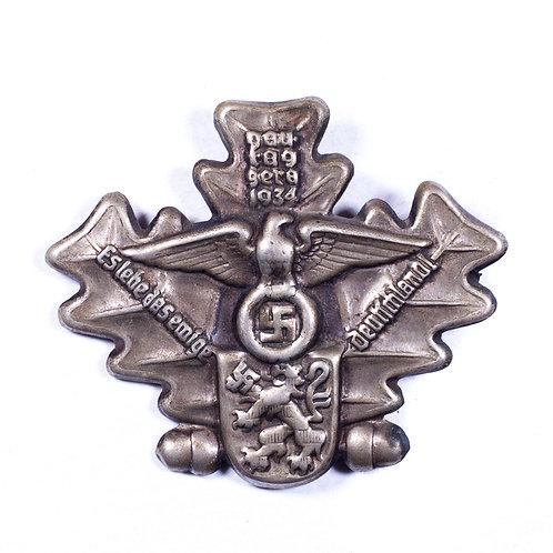 """WWII German """"Gau Tag Gera 1934"""" Tinnie"""