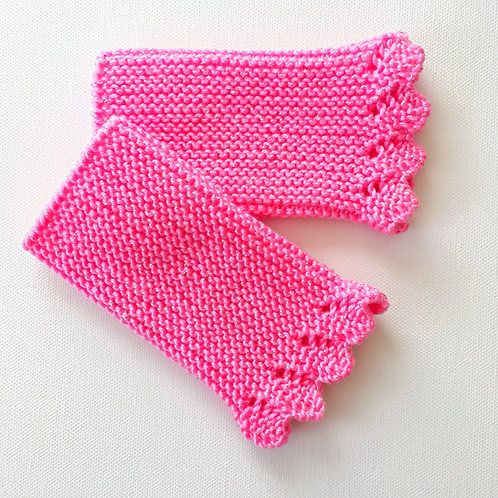 Sparkly Wrist Warmers | Rose