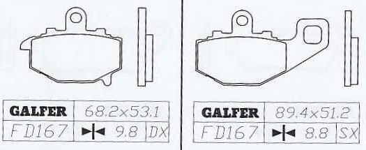 Galfer FD-167 G1371 Kawasaki ZX6-R Rear