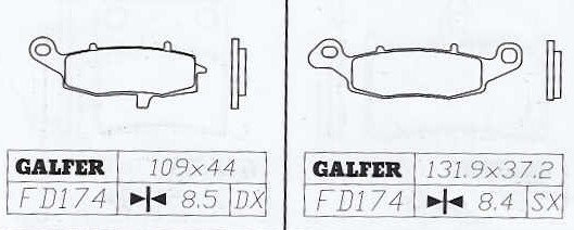 Galfer FD174 G1370 Suzuki SV 650