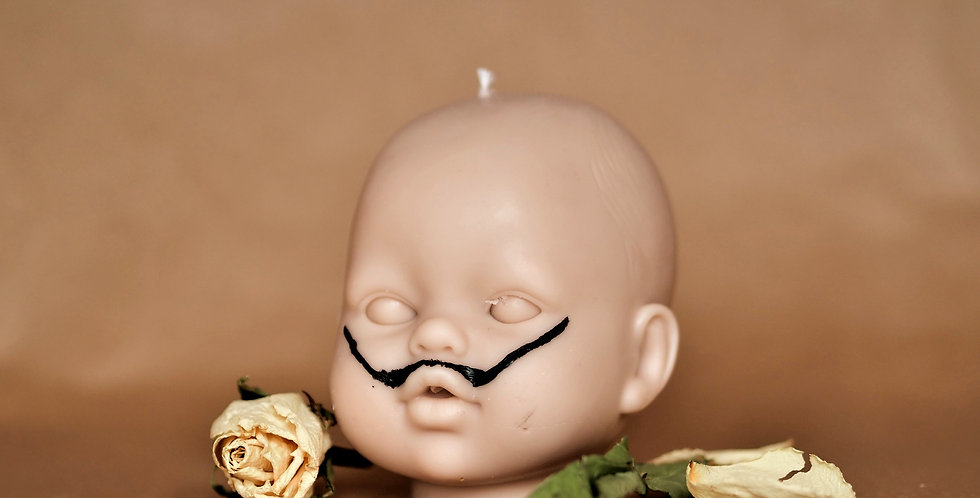 Baby Doll Head Candle