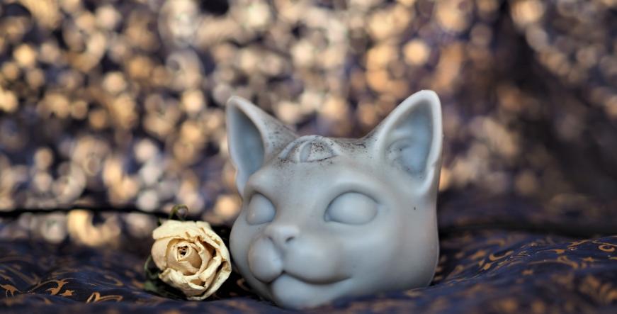 Recycled Wax  Skull & Cat Ornaments