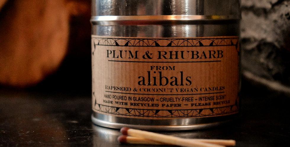 Plum & Rhubarb Tin Candle