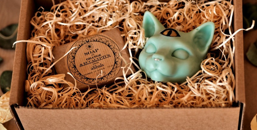 Mystical Cat Candle & Soap Gift Box