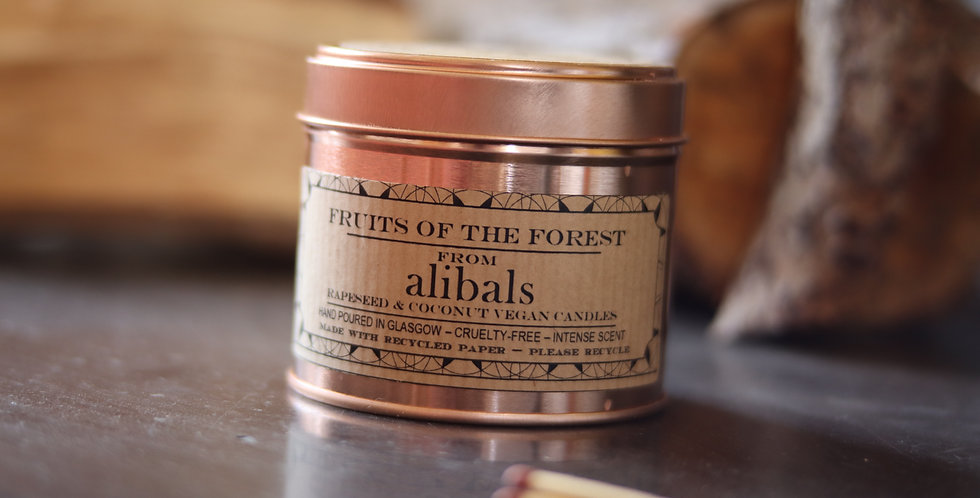 Fruits of the Forest Tin Candle