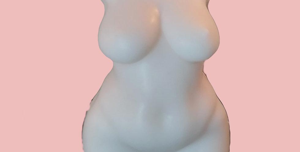 Curvy Female Torso Candle