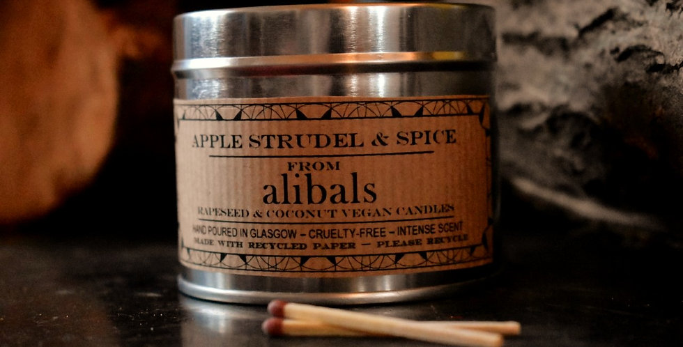 Apple Strudel & Spice Tin Candle