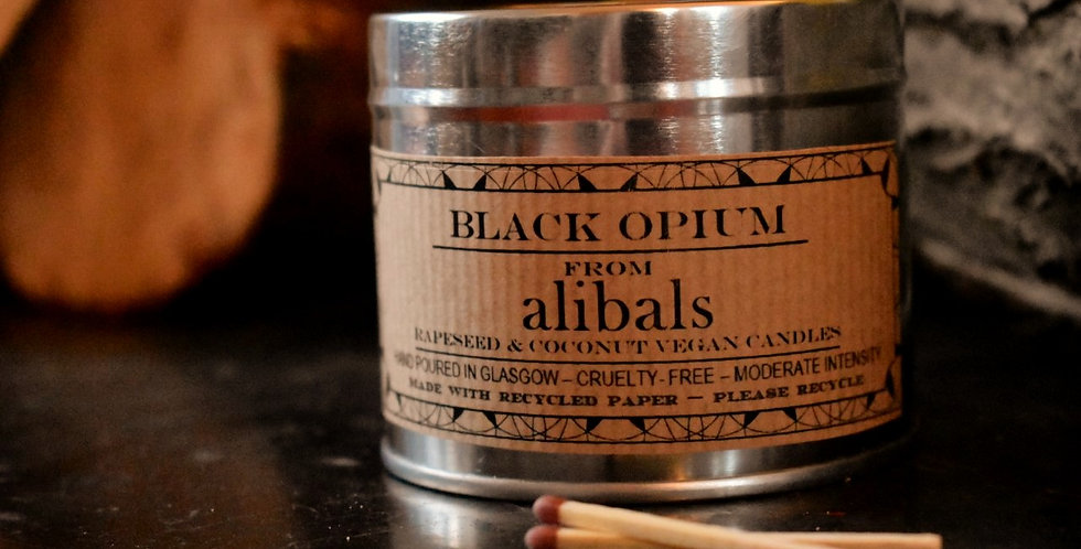 Black Opium Tin Candle