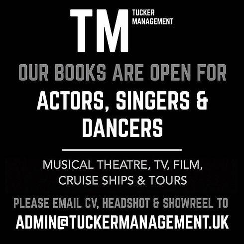 Tucker Management Audition Poster