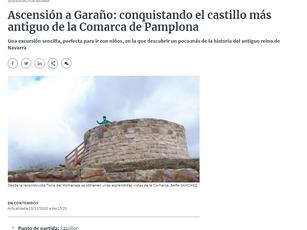 el castillo de garaño en la prensa