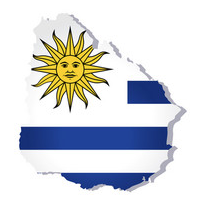 flag map uruguay