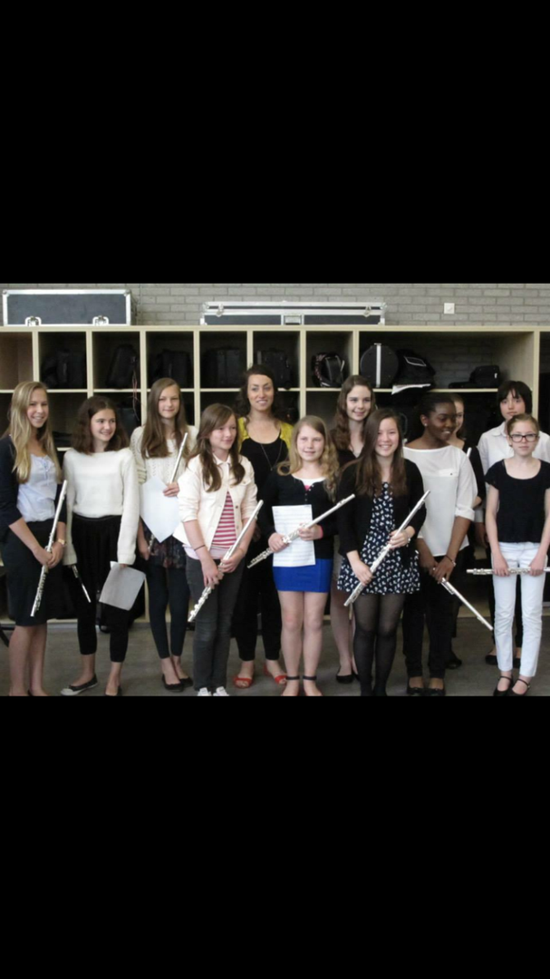 Coaching young flutists