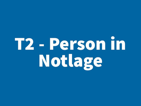 T2 - Person in Notlage