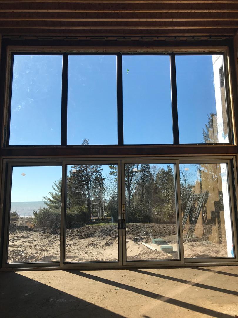Lift & Slide Door with windows above