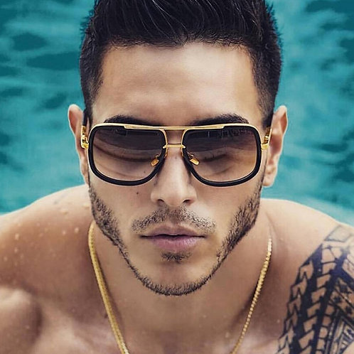 Classic Oversized Men Sunglasses Luxury Brand Women Mach One Sun Glasses Square