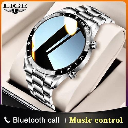 LIGE Men Smart Watch Bluetooth Call Blood Pressure Heart Rate Monitoring