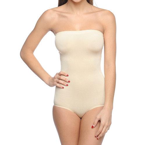 Seamless Strapless Bodysuit Nude