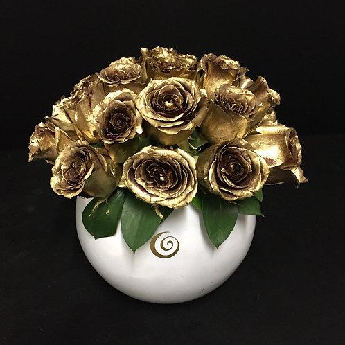 GOLDEN Roses Bubble