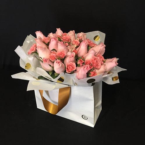 PINK ROSES Flower Bag