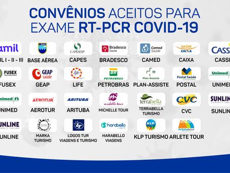 Convênios aceitos para exame RT-PCR COVID-19