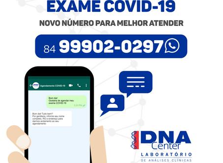 Informações importantes sobre o agendamento do exame RT-PCR COVID-19 pelo WhatsApp