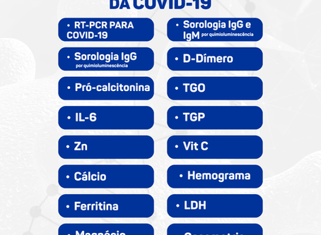 Veja quais os exames o DNA Center disponibiliza para diagnóstico e monitoramento da COVID-19