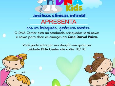 """DNA Center lança a campanha """"Doe um brinquedo, ganhe um sorriso"""""""