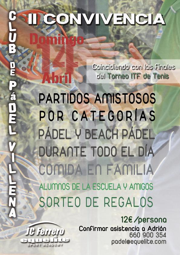 Cartel II Convivencia Club de Pádel