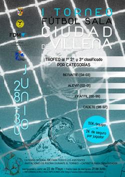 "Cartel I Torneo ""Ciudad de Villena"""