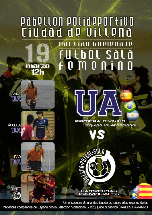 Cartel partido UA-VFSF