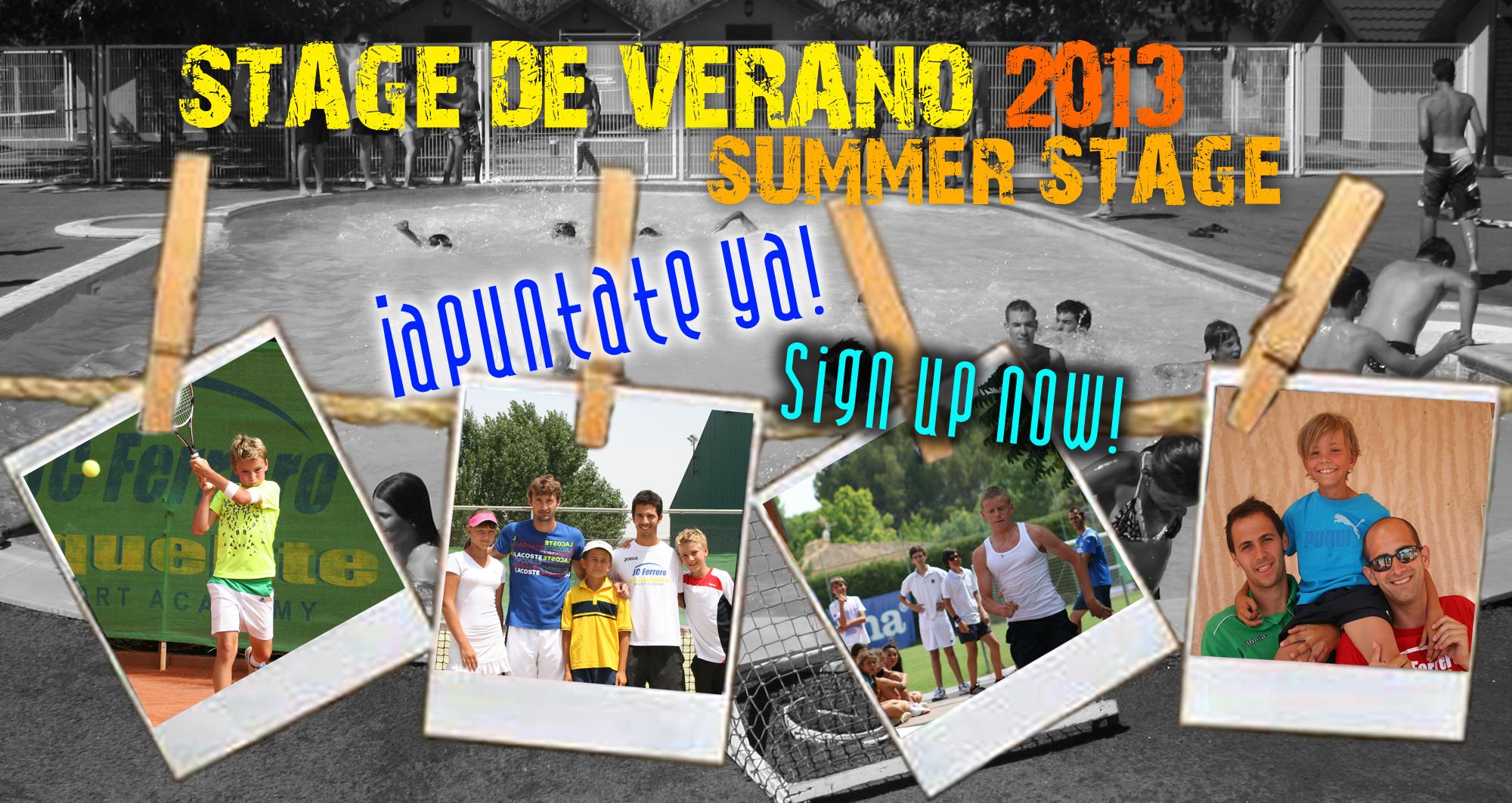 Campaña Stage de Verano 2013