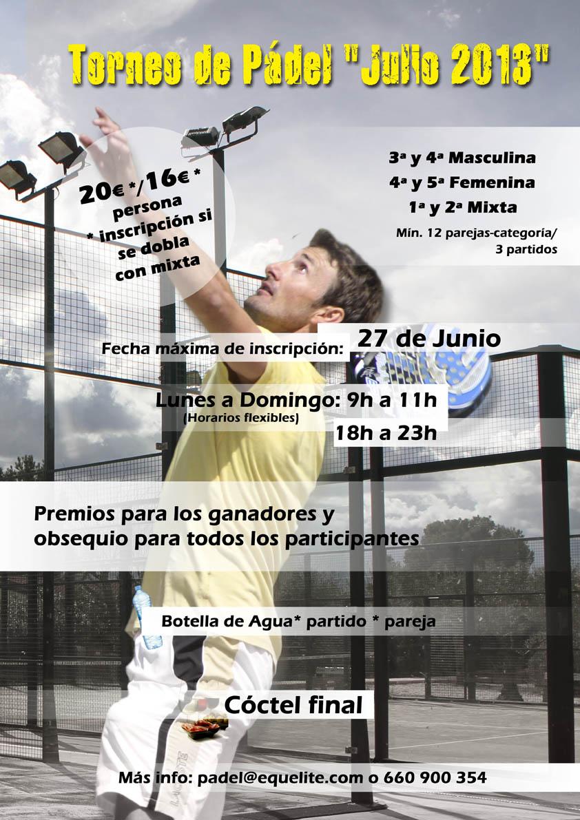 Torneo pádel Julio 2013