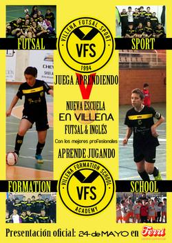 Cartel Nueva Escuela futsal&inglés