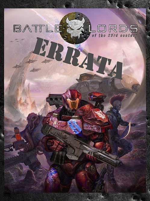 Errata for Battlelords of the 23rd Century, 7th Edition