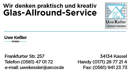 Visitenkarte Glaserei Keßler Kassel
