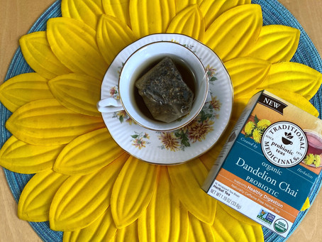 The best way to enjoy dandelions--In a Tea!