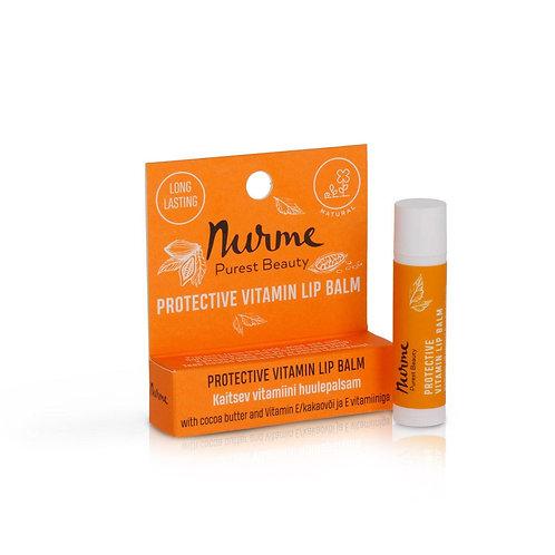 Schützender Mandarine Lippenbalsam mit Vitamin / Nurme